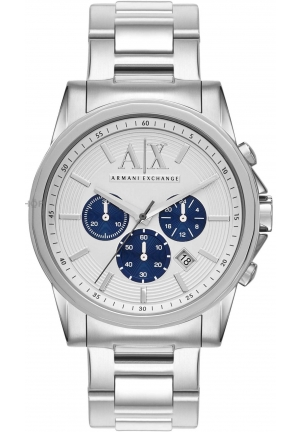 ARMANI EXCHANGE Chronograph Silver Dial Stainless Steel Men's Watch