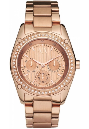 A|X ARMANI EXCHANGE Women's Rose Gold Plated Stainless Steel Bracelet 40mm