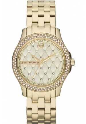ARMANI EXCHANGE Lady Hamilton Champagne Dial Gold-plated Unisex Watch