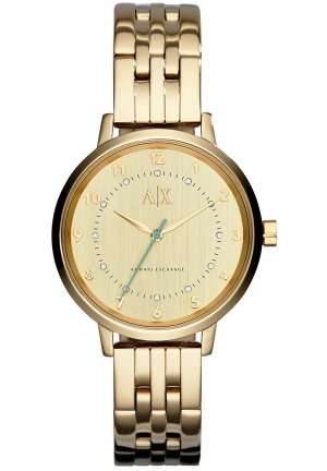 ARMANI EXCHANGE Gold-Tone Swarovski Crystal Dial Ladies Watch