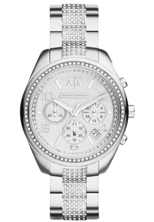 A|X ARMANI EXCHANGE Silver Stainless-Steel Quartz Watch 40MM