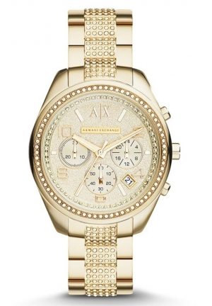A|X ARMANI EXCHANGE Active Gold-Tone Chronograph Ladies Watch 40MM