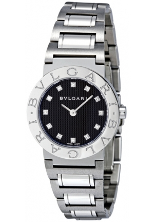 BVLGARI - Black Stainless Steel Ladies Watch BB26BSS-12N