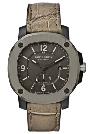 Swiss Automatic Olive Alligator Leather Strap 47mm