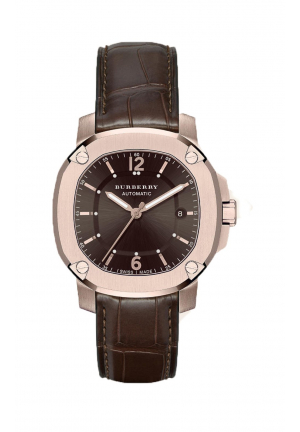 THE BRITAIN AUTOMATIC BROWN LEATHER 43MM