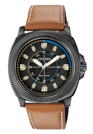 "Citizen Men's ""Drive from Citizen"" Stainless Steel Watch with Beige Leather Band"