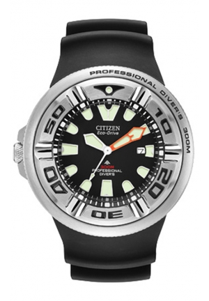 Citizen Men's Eco-Drive Professional Diver Black Sport Watch