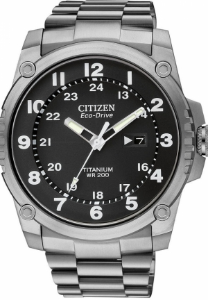 Citizen Men's Eco-Drive STX43 Shock Proof Titanium Watch
