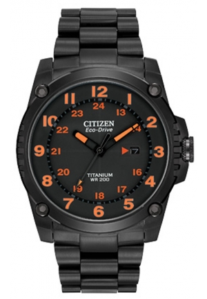 Citizen Men's Eco-Drive STX43 Shock-Proof Titanium Watch