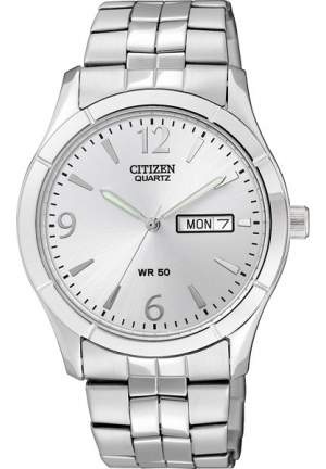 Citizen Men's Analog Display Japanese Quartz Silver Watch