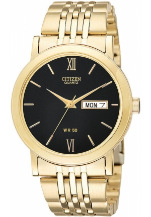 Citizen Men's Quartz Watch in Gold-Tone Stainless Steel