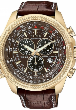 Citizen Men's Eco-Drive Watch with Leather Band