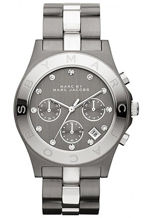 Blade Chronograph Gunmetal and Silver-Tone Watch 40mm