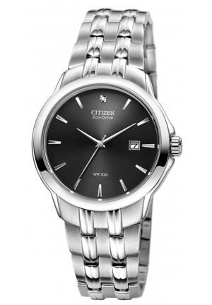 CITIZEN Eco-Drive Black Dial Stainless Steel Men's Watch 41mm