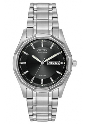 Citizen Men's Eco-Drive Stainless Steel Watch with Link Bracelet