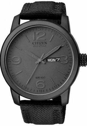 Citizen Men's Black Canvas Strap Eco-Drive Watch