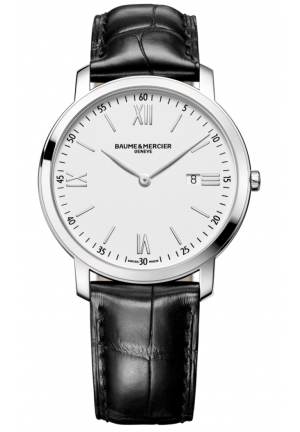 BAUME & MERCIER Mercier Classima Executives White Dial Stainless Steel Mens Watch 39MM