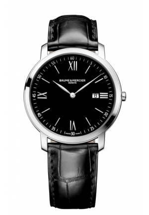 BAUME & MERCIER Classima Executives Black Dial Stainless Steel Mens Watch 39mm