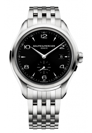 BAUME & MERCIER Clifton Black Dial Stainless Steel Mens Watch 41
