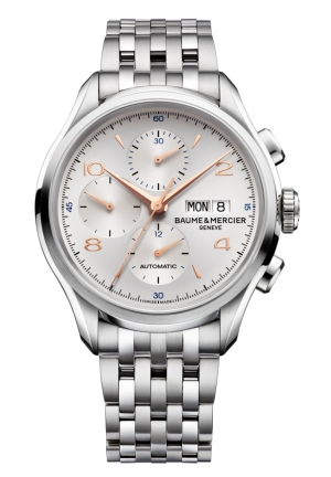 BAUME & MERCIER Clifton Analog Display Swiss Automatic Silver Watch, 43mm