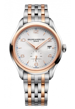 BAUME & MERCIER lifton Silver Dial Two-tone Stainless Steel Mens Watch 41MM