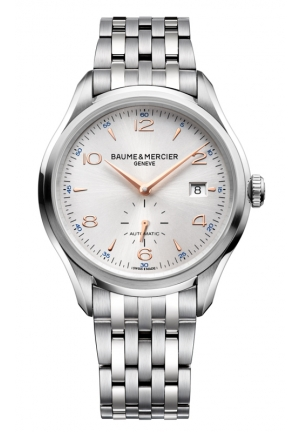 BAUME & MERCIER Clifton Silver Dial Stainless Steel Mens Watch 41mm