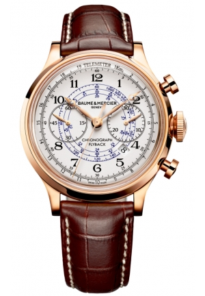 BAUME & MERCIER Capeland White Dial Flyback Chronograph Mens Watch
