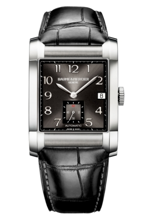 BAUME & MERCIER Milleis Black Dial Leather Mens Watch 45.0 mm x 32. mm