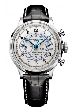 BAUME & MERCIER Capeland White Dial Chronograph Mens Watch 44MM