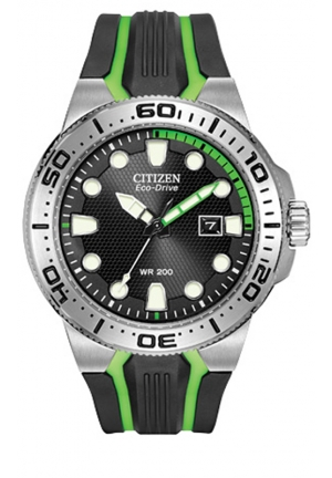 "Citizen Men's ""Scuba Fin"" Eco-Drive Diver's Watch with Two-Tone Band"
