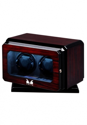 BOX WATCH WINDER WITH ROTATING BASE (ROSEWOOD)