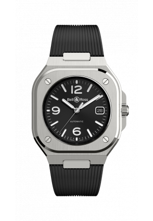Bell & Ross BR05 Black Steel Rubber