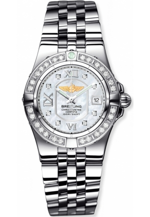 BREITLING Galactic Diamond & Mother of Pearl Watch 30mm