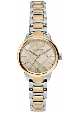 THE CLASSIC ROUND TWO-TONE STAINLESS STEEL BRACELET TIMEPIECE 32MM