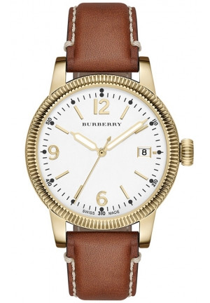BURBERRY Women's Swiss Tan Leather Strap Watch 38mm