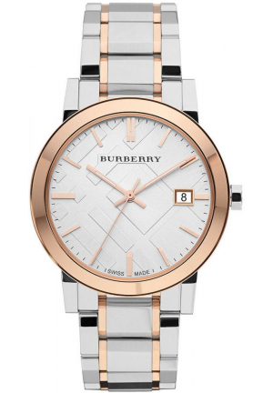 The City Silver Dial Two-Tone Stainless Steel Unisex Watch bu9006 ,38mm