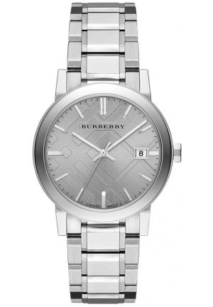 Burberry The City Swiss Silver Stainless Steel Bracelet Watch  38mm