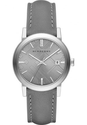 Women's Swiss Gray Leather Strap Watch 38mm