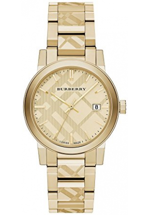 SWISS GOLD ION-PLATED STAINLESS STEEL BRACELET UNISEX WATCH BU9038, 38MM