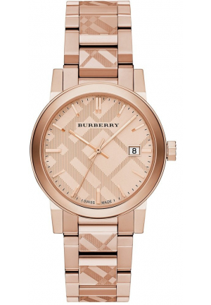 THE CITY ROSE GOLD ION-PLATED STAINLESS STEEL BRACELET UNISEX WATCH bu9039, 38MM