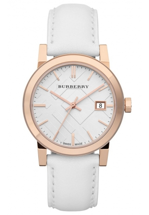 Women's Swiss White Leather Strap 34mm