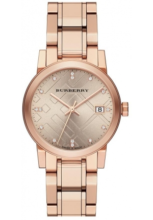 Burberry The City Rose Gold Diamond Ladies Watch
