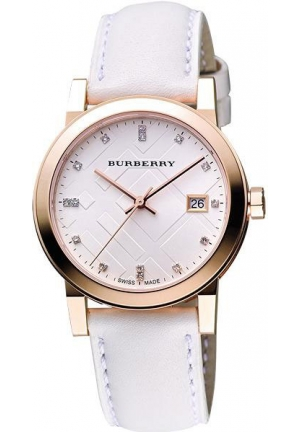 The City Leather Diamond Ladies Watch 34mm