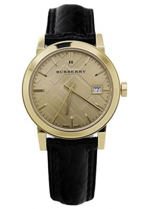 BURBERRY City Ladies Elegant Black & Gold 34MM