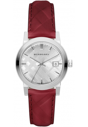 THE CITY GENUINE LEATHER WATCH, 34MM