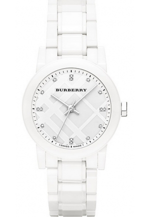 Burberry The City Ceramic Watch with Diamond Indexes for Women