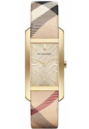 Burberry Burberry Stainless Steel Case Leather Haymarket Women's Watch 25mm BU9407