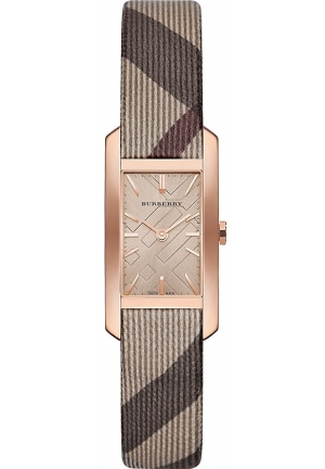 Burberry Women's The Pioneer Collection Signature Check Plaid Pattern Rose Gold BU9510