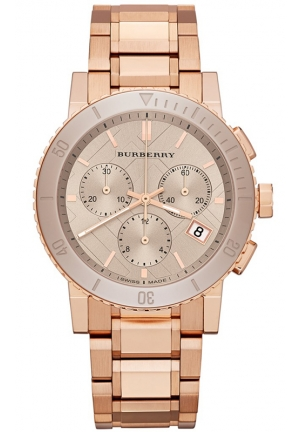 Women's Swiss Chronograph Rose Gold Ion-Plated Stainless Steel Bracelet 38mm