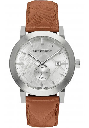 THE CITY BROWN LEATHER 42MM